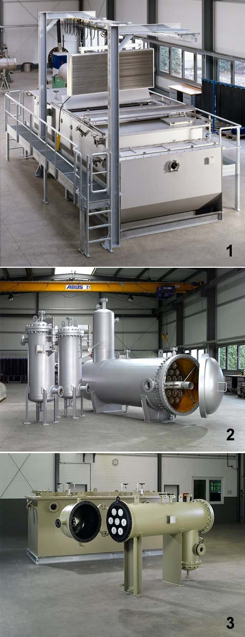 1) Phase Separator for waste water treatment 2) Phase Separator for the separation of gasoline droplets from process water   3) Phase Separator for the production of silicone oil